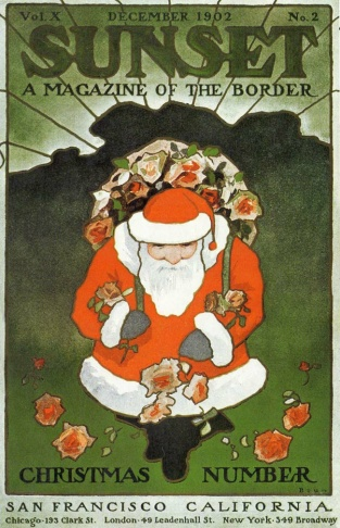 Sunset magazine Christmas cover from December 1902