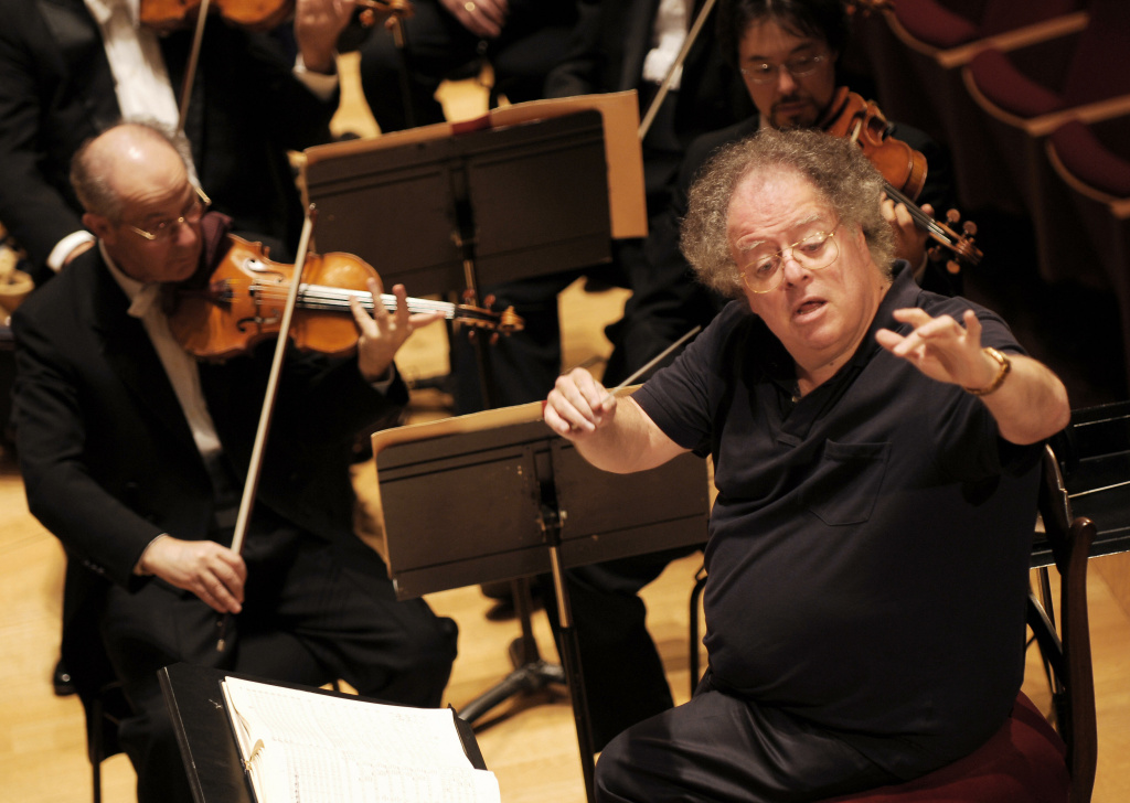 Us conductor James Levine and the Boston Symphony Orchestra perform Hector Berlioz's