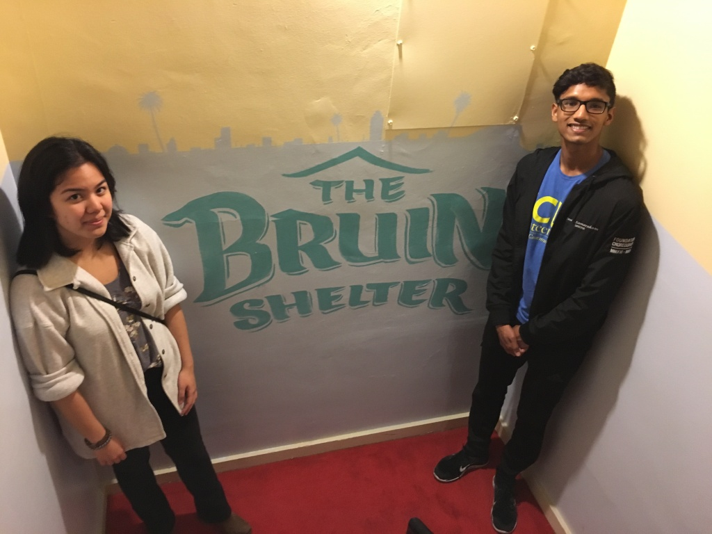 UCLA students Erin Chan and Imesh Samarakoon help run the Bruin Shelter in Santa Monica for homeless college students.