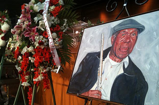 Jazz musician Buddy Collette's funeral