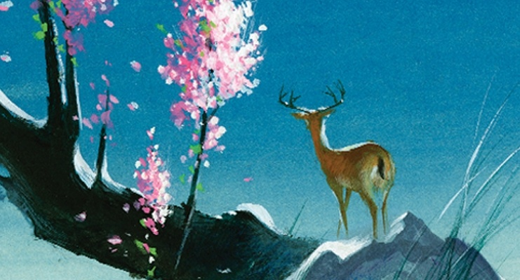 A painting by Tyrus Wong, who gave Bambi its look.