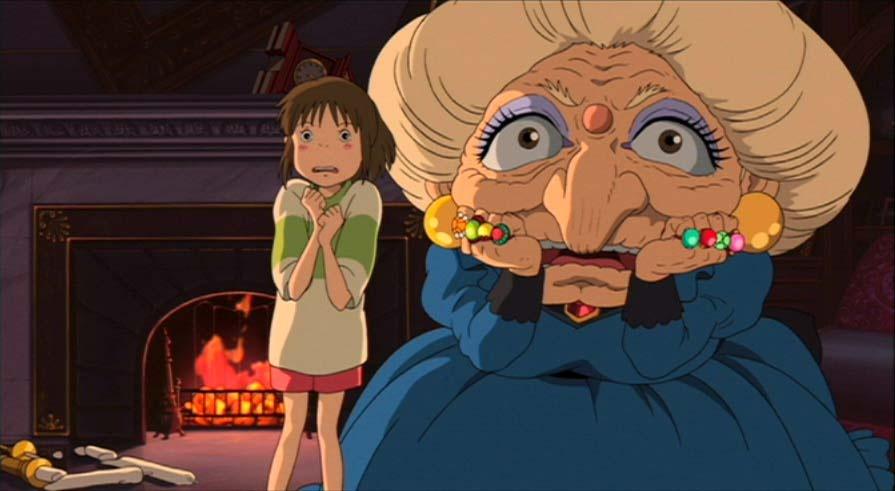 A scene from Hayao Miyazaki's