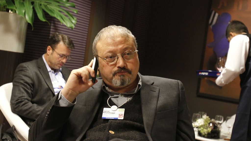 Saudi Arabian journalist Jamal Khashoggi is shown at the World Economic Forum in Davos, Switzerland, in 2011. Khashoggi, who Saudi officials say died in their consulate in Istanbul, had a complicated relationship with Saudi Arabia's royal family. At various times in his career, he worked for the Saudi leadership, and at other times he was a critic.