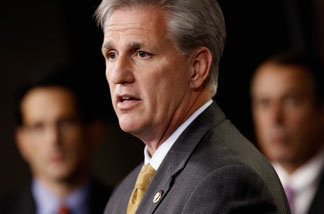 House Majority Whip-elect Kevin McCarthy (R-CA) speaks during a news conference with fellow Republican leaders at the U.S. Capitol November 18, 2010 in Washington, DC.