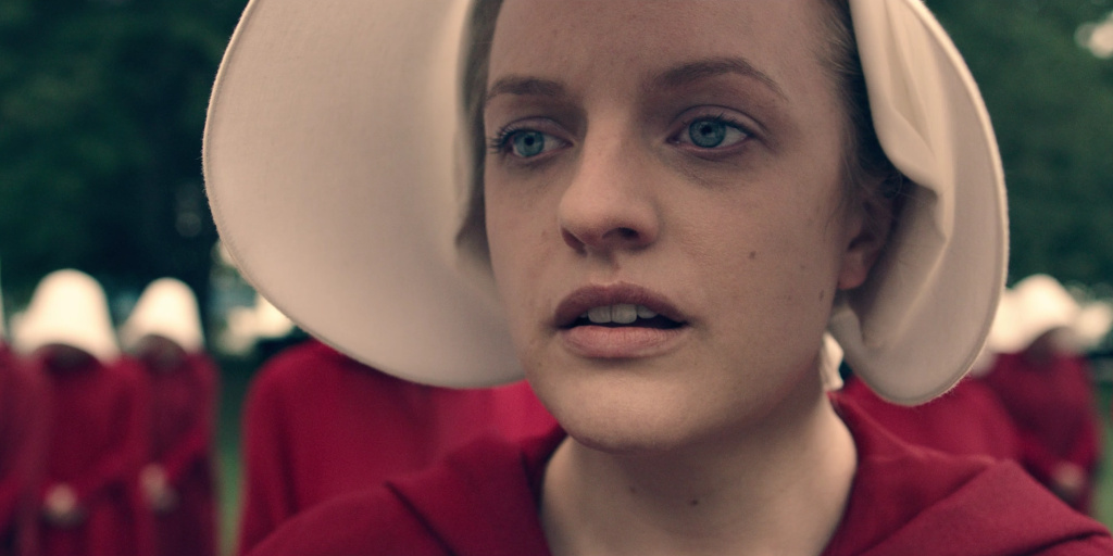 Elizabeth Moss, star of the Hulu series, The Handmaid's Tale.