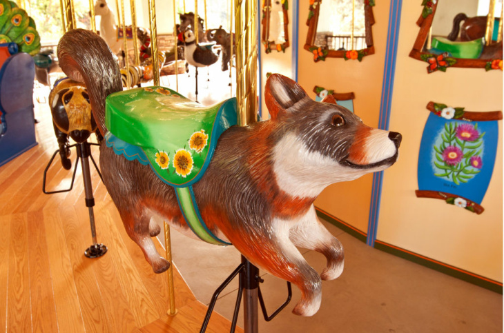One of the many animals included on the carousel.