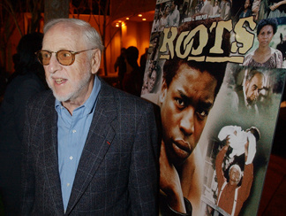 "David L. Wolper, producer of the landmark 1977 television series ""Roots,"" arrives for a 25th anniversary celebration of the broadcast at the Academy of Television Arts and Sciences in North Hollywood, Calif., Tuesday, Jan. 15, 2002."