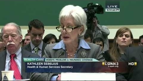 Secretary Sebelius Opening Statement with Apology (C-SPAN)