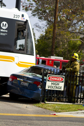 expo line train car accident