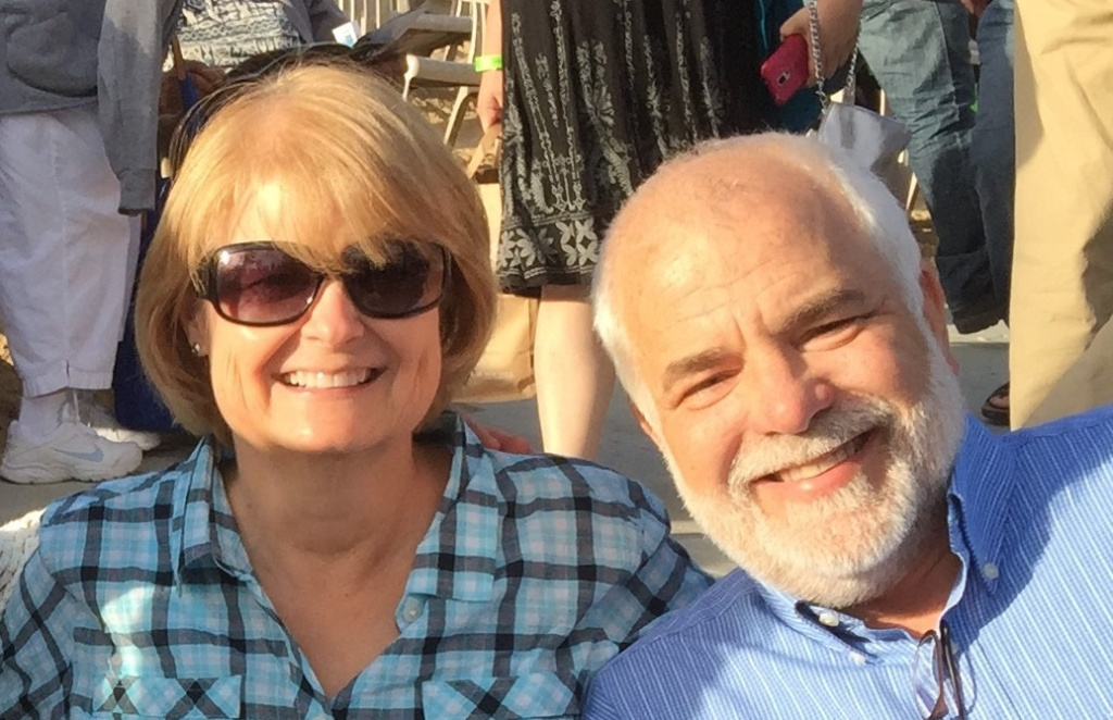 Cassie Ray, of Fairfield, with her husband, Gerry on a trip to Lake Tahoe.