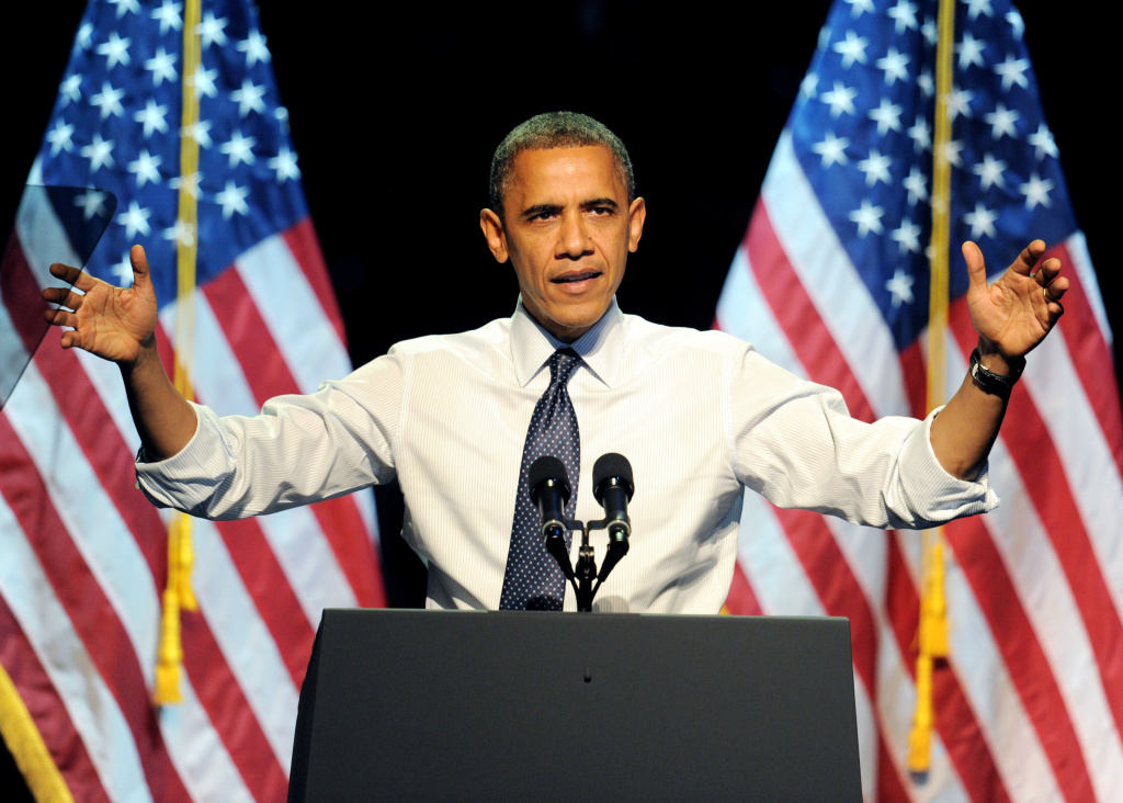 President Barack Obama speaks at the