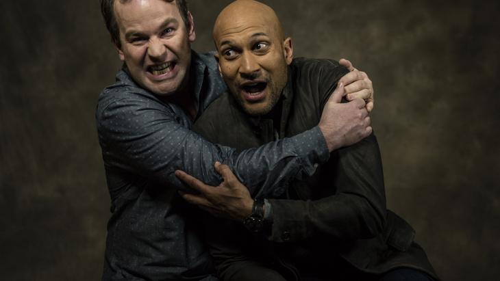 Keegan-Michael Key (r) with Mike Birbiglia (l), both stars of the new film, 'Don't Think Twice'