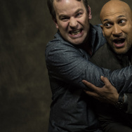 Keegan-Michael Key (r) with Mike Birbiglia (l), both stars of the new film, 'Don't Think Twice'