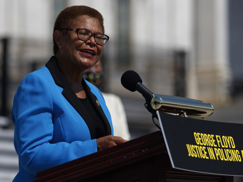 California Congresswoman Karen Bass was catapulted onto the national stage leading Democrats on police reform. Now she is a contender to be Joe Biden's running mate.