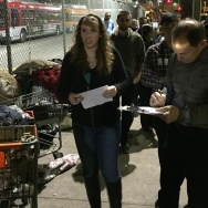 Bob McDonald, new Secretary of the US Dept of Veterans Affairs, has vowed to end veterans homelessness, and walked Skid Row for the homeless census Thursday night to drive the point home.