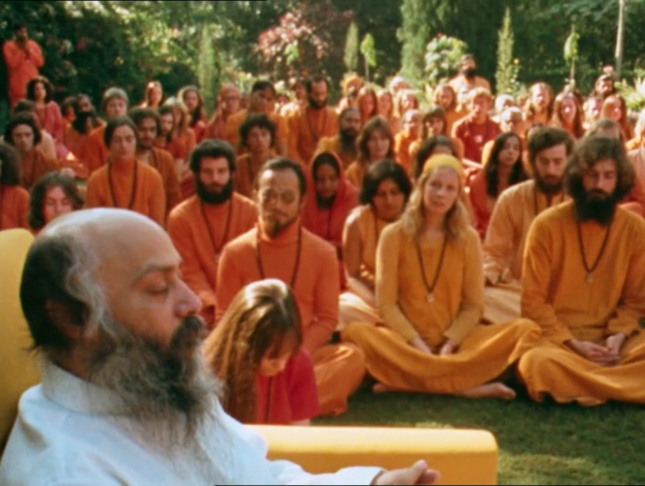 Bhagwan Rajneesh and followers in