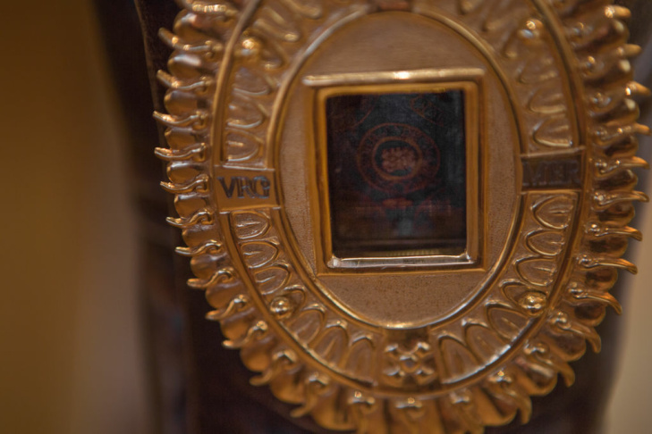The relic of the tilma dates back to 1531 when Guadalupe appeared to St. Juan Diego, a 16th century indigenous Native American from Mexico.