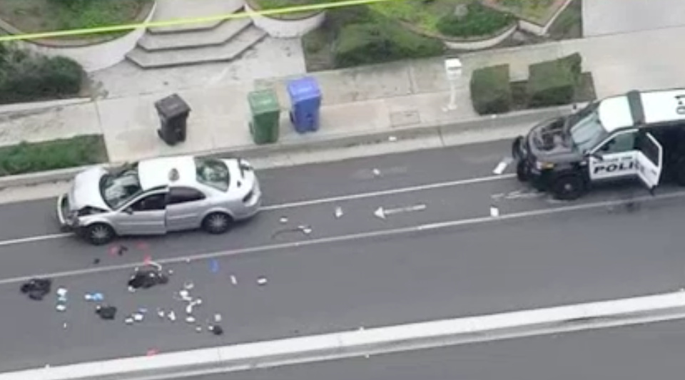 Calif. officer killed, another wounded while responding to accident