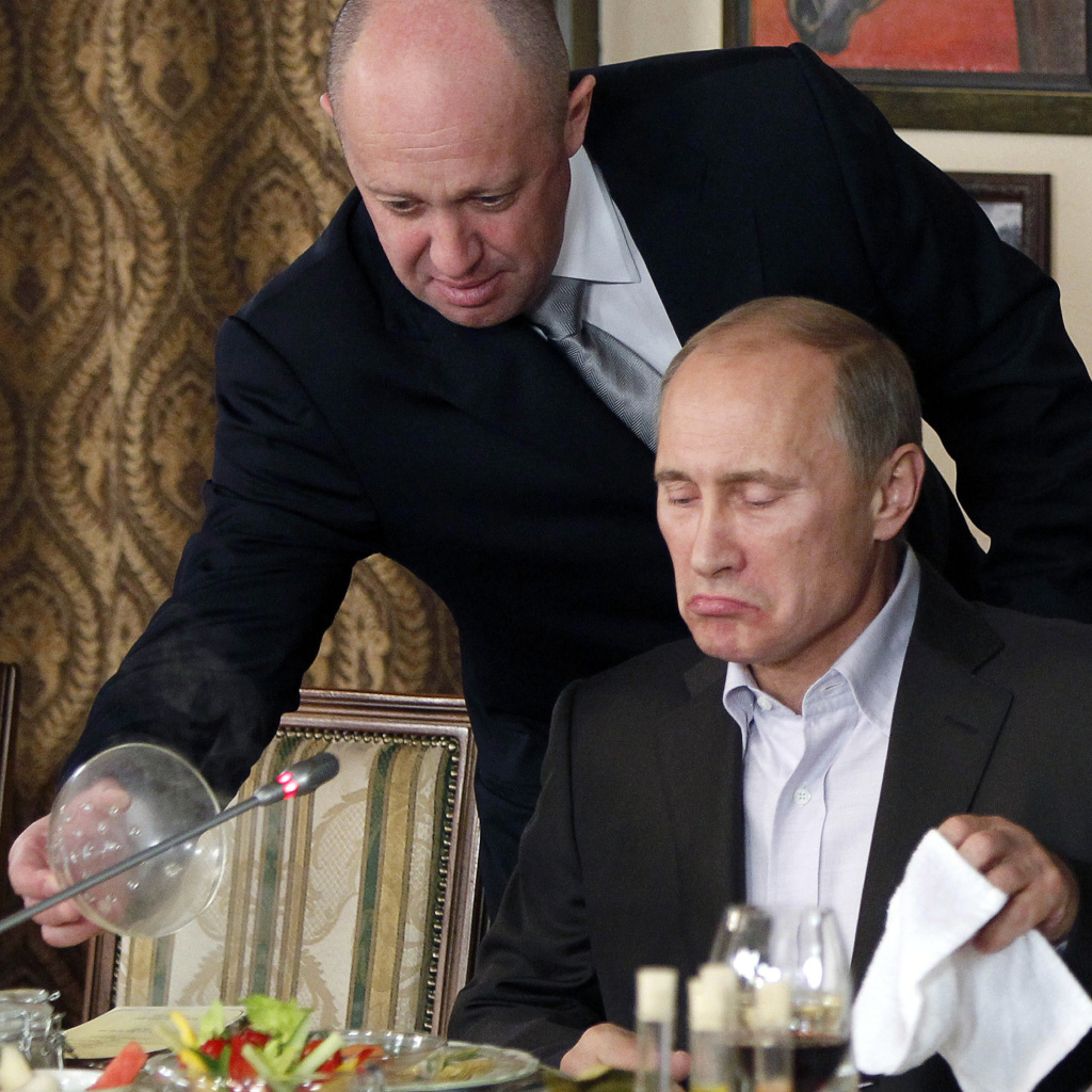 An attorney defending Yevgeny Prigozhin, left, dubbed the