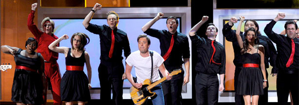 Amber Riley, Jane Lynch, Tina Fey, Joel McHale, Jimmy Fallon, Cory Monteith, Chris Colfer, Jorge Garcia, Nina Dobrev, and Jon Hamm were, believe it or not, only some of the participants in the Emmys' terrific 'Born To Run