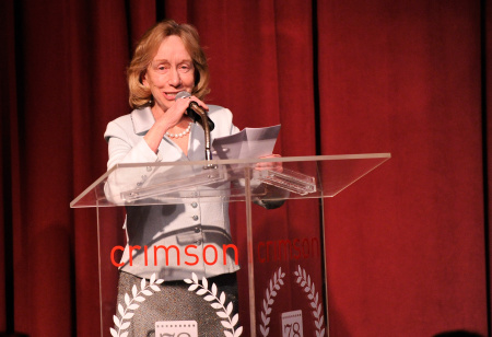 Biographer Doris Kearns Goodwin speaks onstage at the 2012 New York Film Critics Circle Awards at Crimson on January 7, 2013 in New York City.