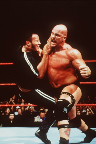 The Rock And Stone Cold Steve Austin Star In WWF Smackdown