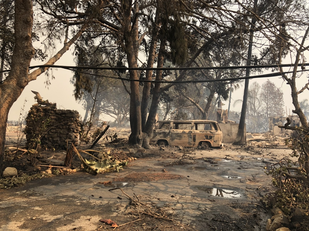 The devastation of Woolsey Fire in Point Dume community on Saturday morning Nov 10, 2018.