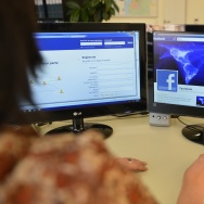 A computer screen showing a Facebook pag