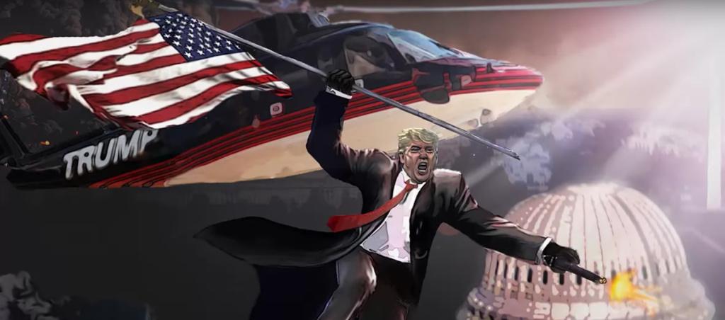 President-elect Donald Trump battles unknown assailants.