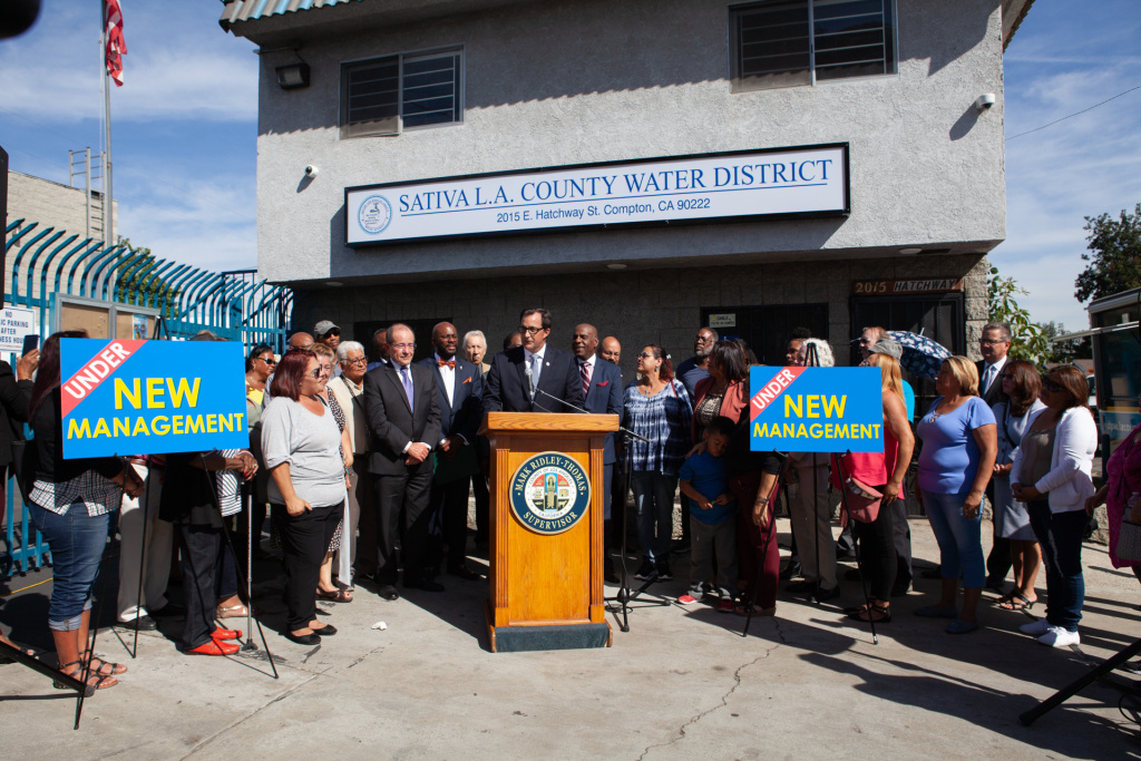 LA County Public Works Director Mark Pestrella speaks one day after the State Water Resources Control Board put his department temporarily in charge of the embattled Sativa Water District.