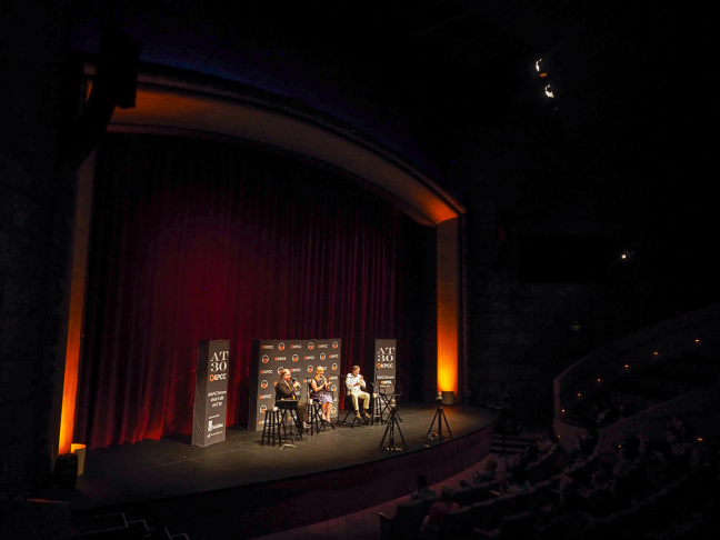 Larry Mantle and industry experts and workers discussed the impact and implementation of a $15 minimum wage hike in the City of Los Angeles at the El Portal Theatre in North Hollywood on July 7, 2015.