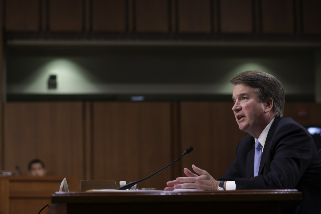 Supreme Court nominee Judge Brett Kavanaugh testifies before the Senate Judiciary Committee on the third day of his confirmation hearing on Capitol Hill September 6, 2018 in Washington, DC.