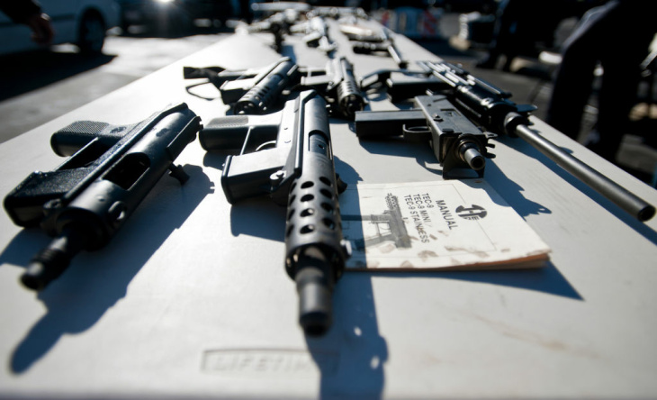 TEC-9 handguns, some modified into fully automatic weapons, were recovered. The LAPD also held gun buybacks on Wednesday in South L.A. at the LA Memorial Sports Arena.