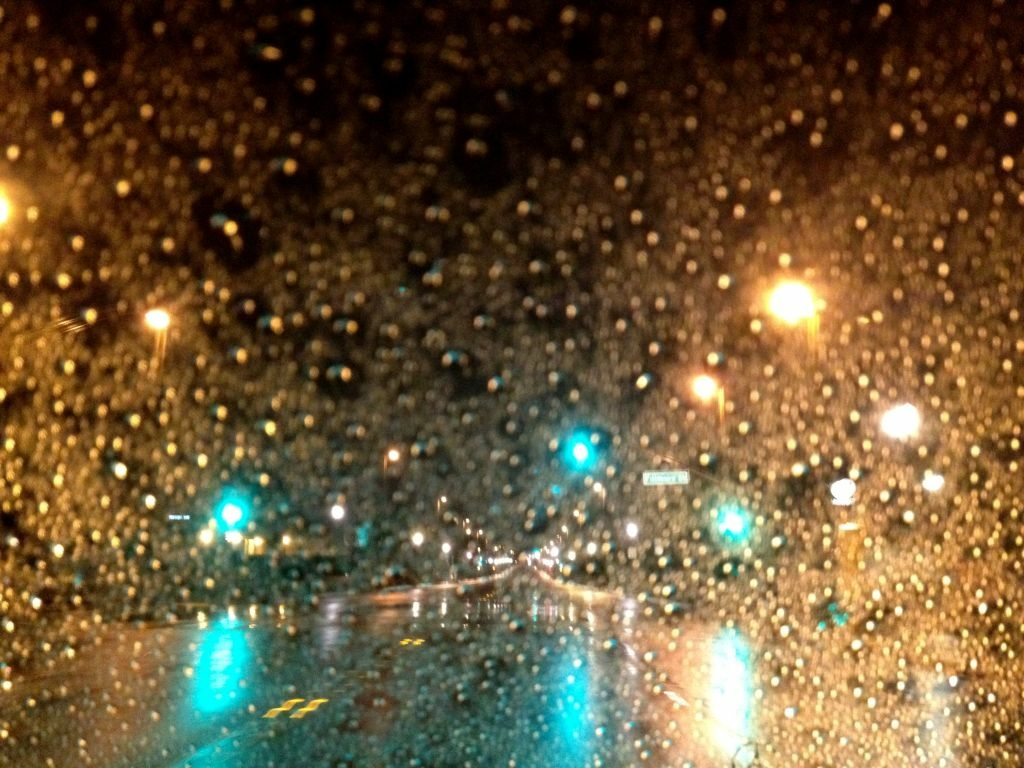 Steady and heavy rain Thursday in Southern California, including Pasadena (above) created dangerous driving conditions with standing water on major freeways at times.