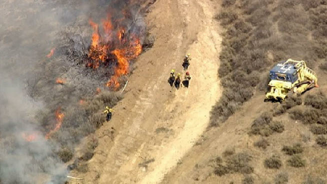 A fire burned in Simi Valley on Thursday, June 6, 2013.