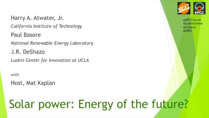NEXT: Solar power - energy of the future?
