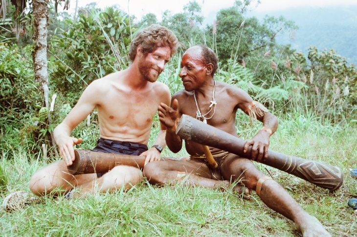 Roberts, left, and Gesok, right, post-drum initiation ceremony. Courtesy Christopher Roberts.