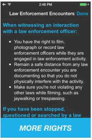 Screenshot of ACLU