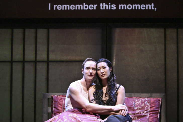 American businessman Daniel Cavanaugh (Matthew Jaeger) with Xi Yan (Kara Wang) in East West Players' production of