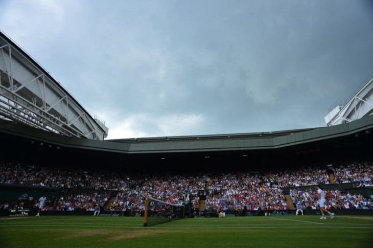 View of Centre Court with the roof open