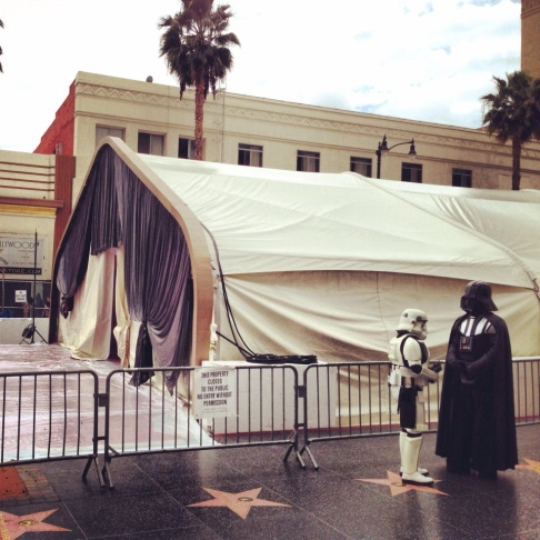Oscars red carpet covered