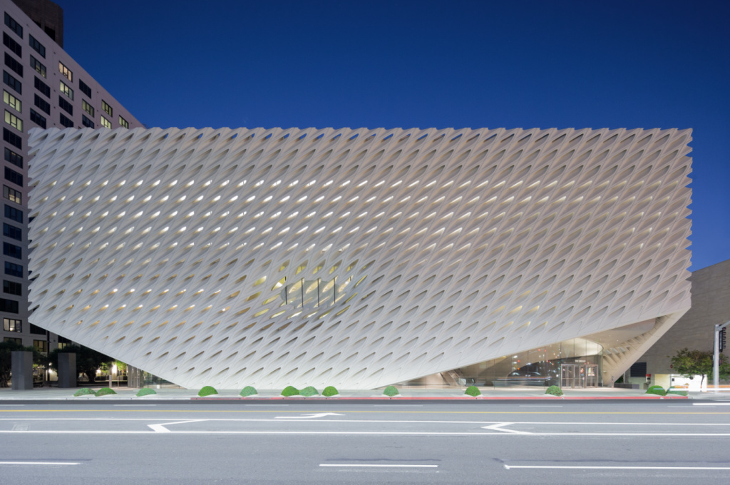 The Broad Museum, on Grand Avenue in downtown Los Angeles