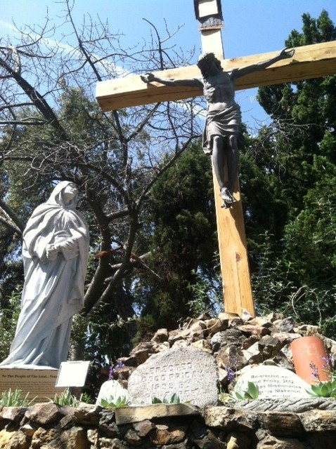 Volunteer artists worked 150 hours to restore the Mission San Gabriel's 77-year-old crucifix after it was damaged during the December windstorm.