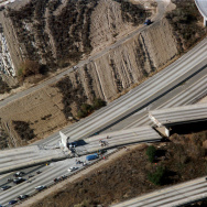 USA-EARTHQUAKE-HIGHWAY DAMAGES