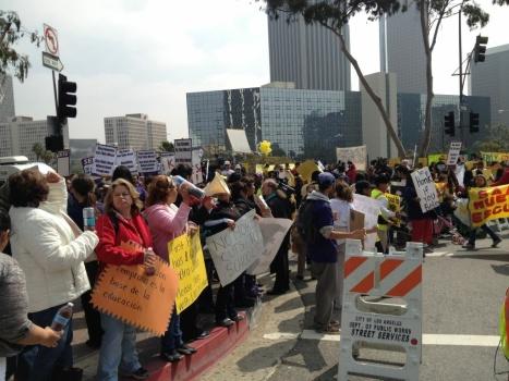LAUSD board protesters