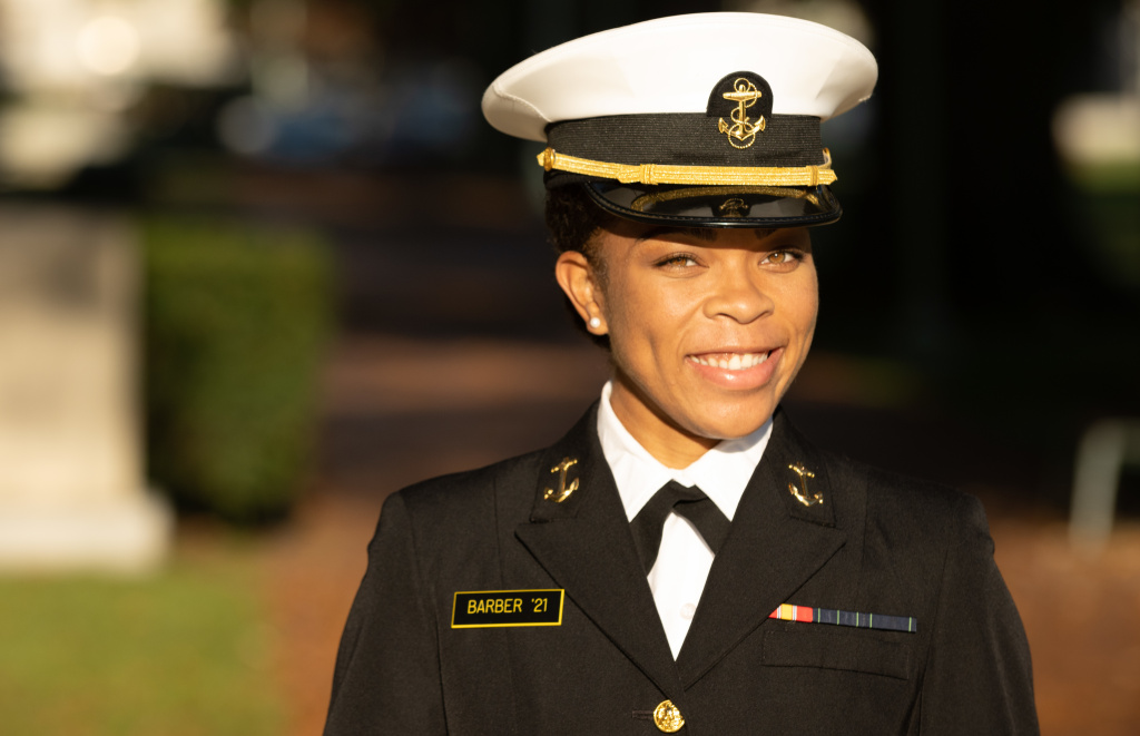 Midshipman 1st Class Sydney Barber, from Lake Forest, Ill., is slated to be the U.S. Naval Academy's first African American female brigade commander. It's the highest student leadership position at the academy.