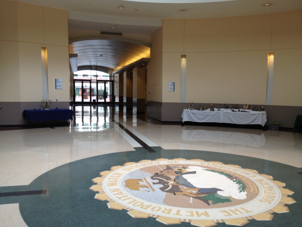 The MWD Headquarters lobby.