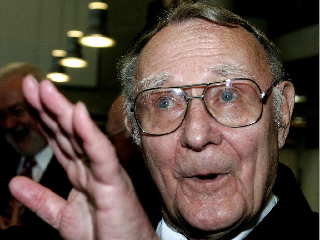 IKEA founder Ingvar Kamprad in 2007. Kamprad died Saturday at at 91.