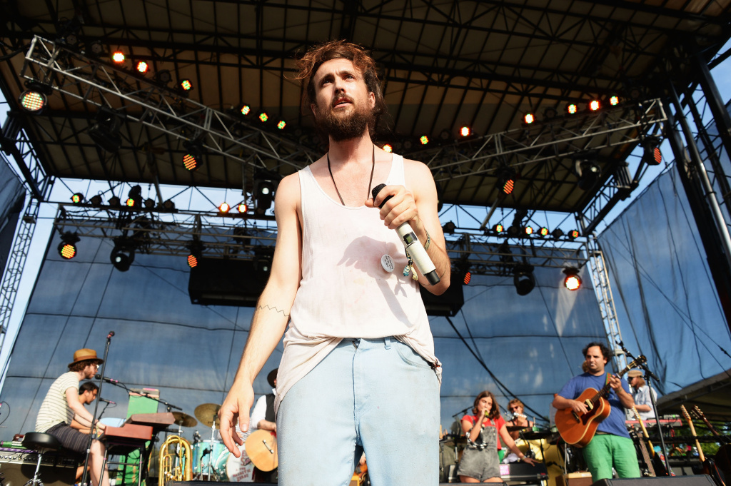 Alex Ebert of the band Edward Sharpe and the Magnetic Zeros performs onstage at the Firefly Music Festival at The Woodlands of Dover International Speedway on June 22, 2013 in Dover, Delaware.