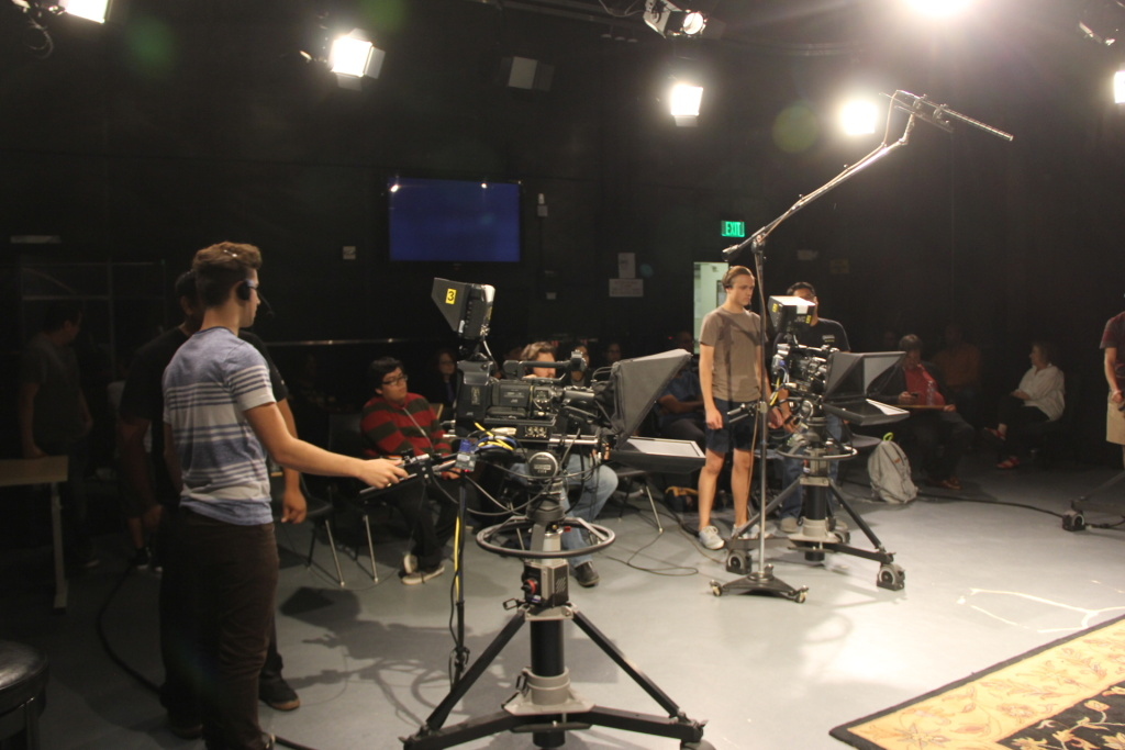 Students take part in the Entertainment and Entrepreneurship Production bootcamp at Los Angeles Valley College.